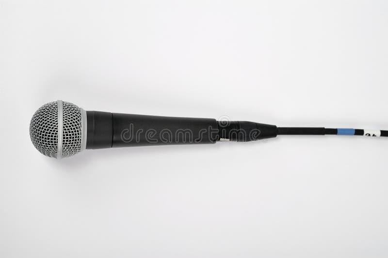 Micrófono en blanco imagen de archivo