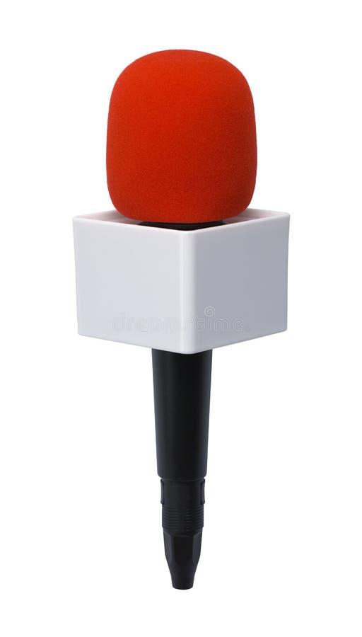 Micrófono en blanco de las noticias fotografía de archivo