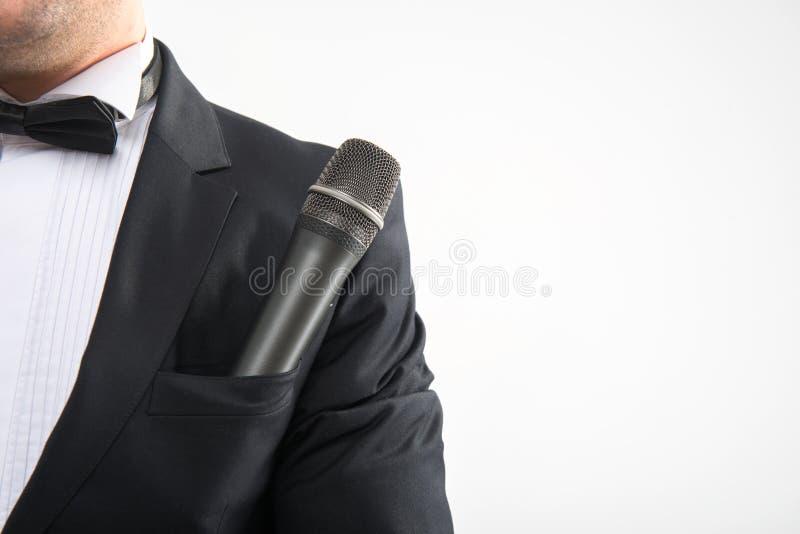 Micrófono en el bolsillo foto de archivo