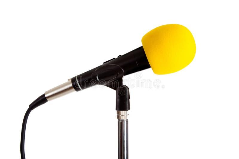 Micrófono en un soporte fotos de archivo
