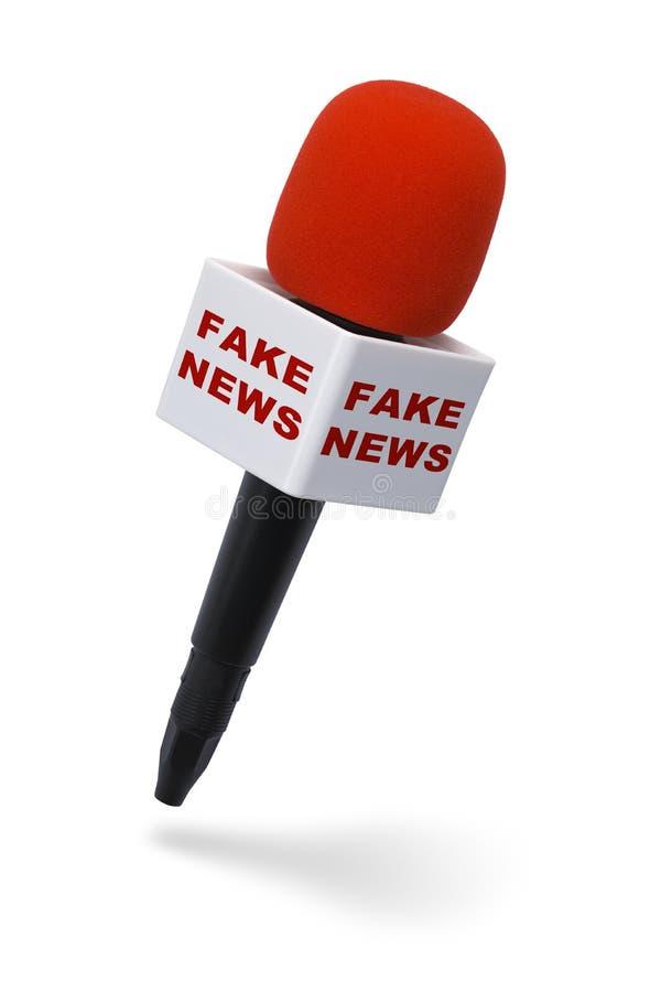 Micrófono falso de las noticias fotos de archivo libres de regalías