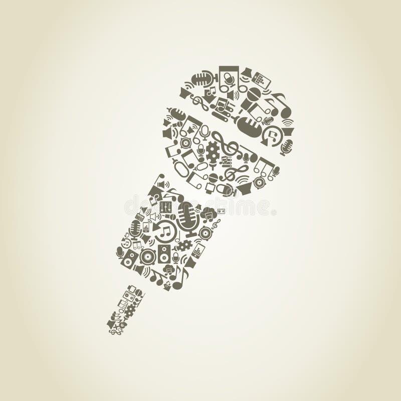 Micrófono music2 ilustración del vector