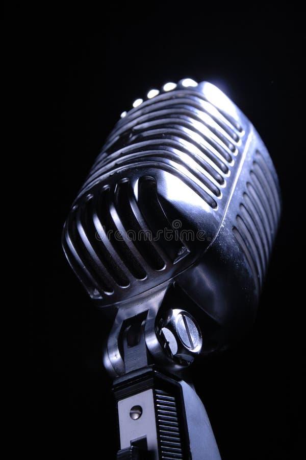 Micrófono retro foto de archivo