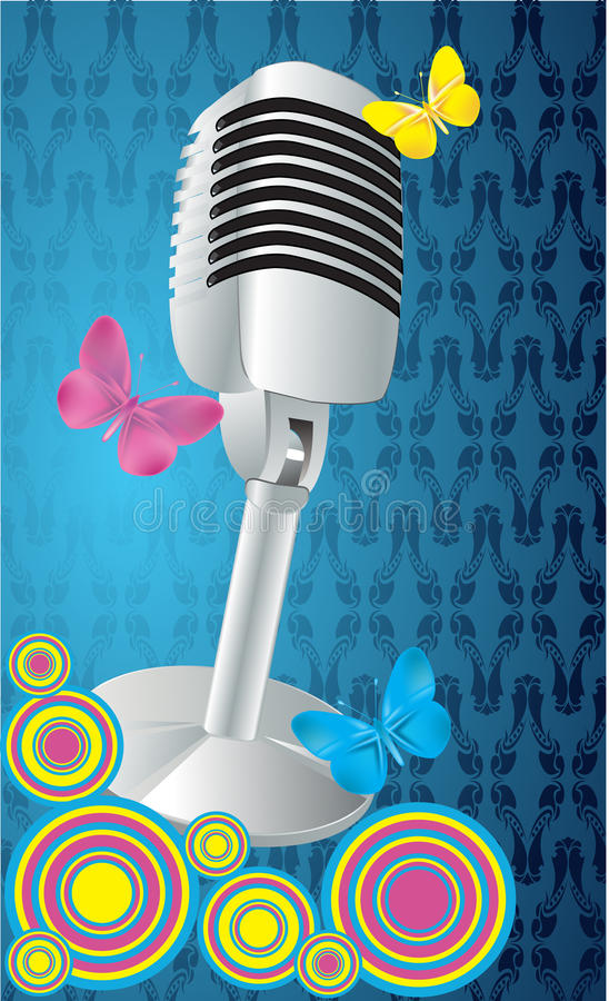 Micrófono retro libre illustration