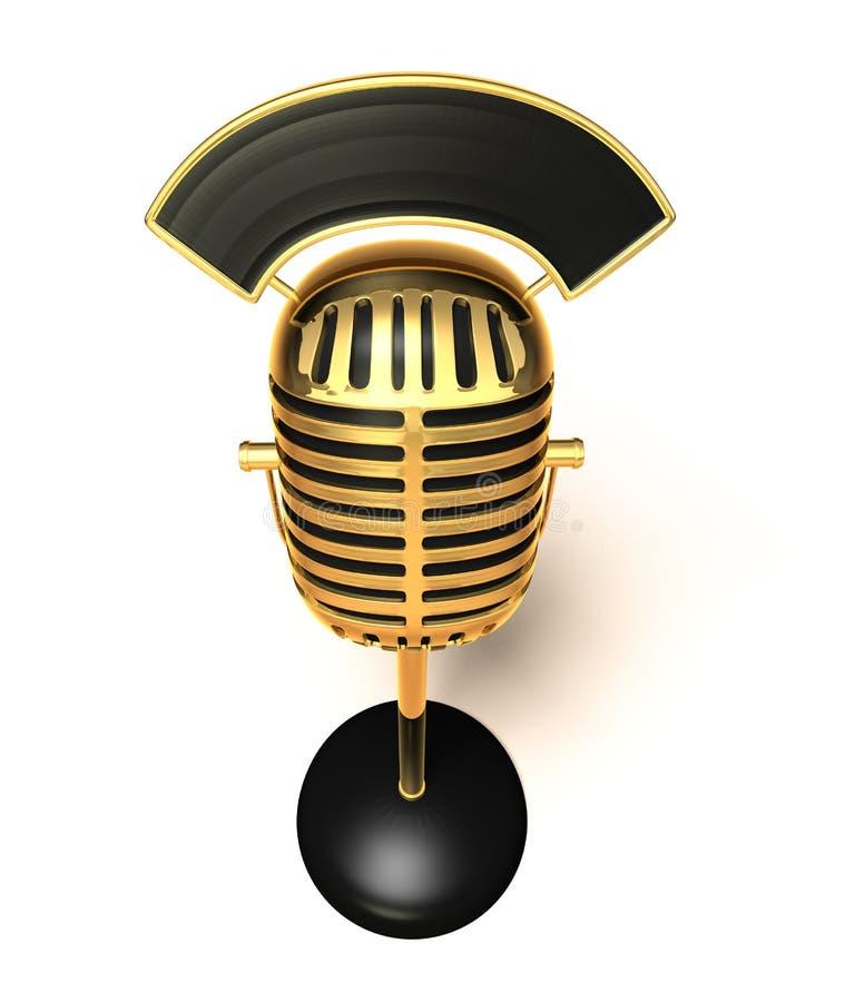 Micrófono retro ilustración del vector