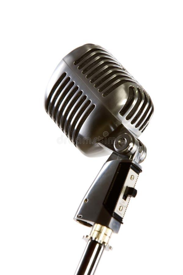 Micrófono retro de la vieja manera fotos de archivo libres de regalías