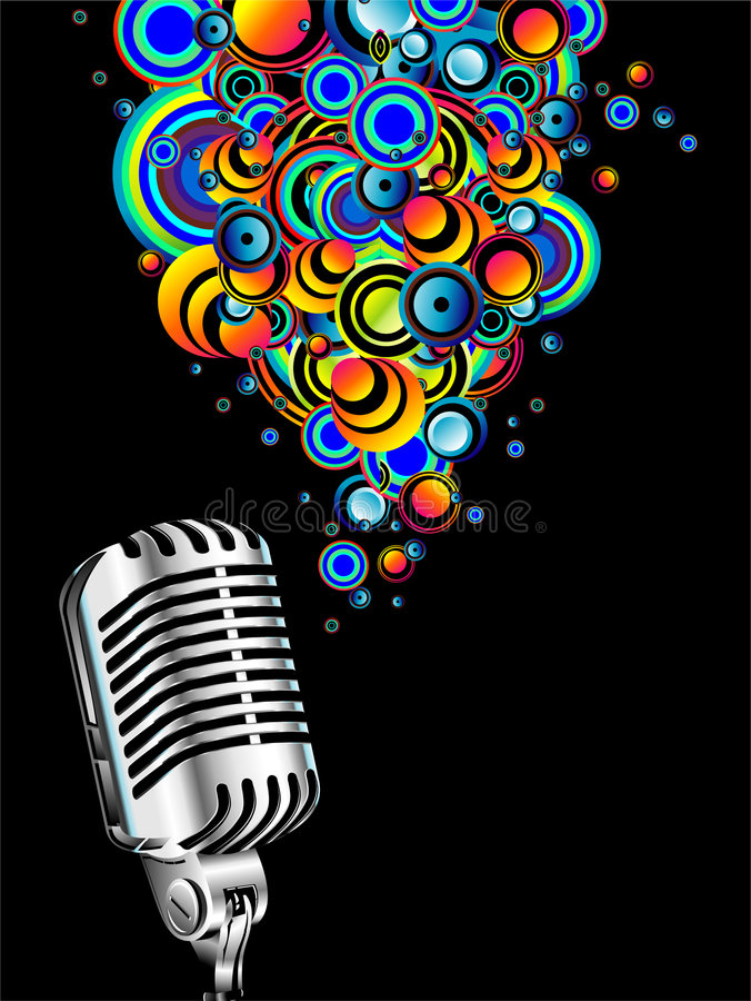 Micrófono retro mágico ilustración del vector