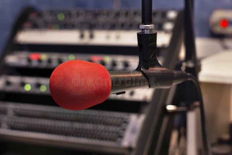 Micrófono Rojo Fotografía de archivo