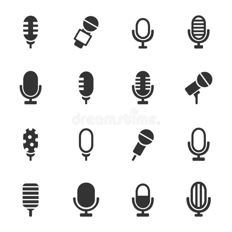 Micrófono un icono ilustración del vector