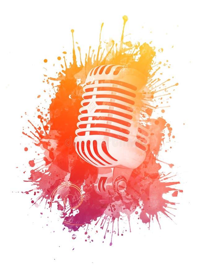 Micrófono viejo libre illustration