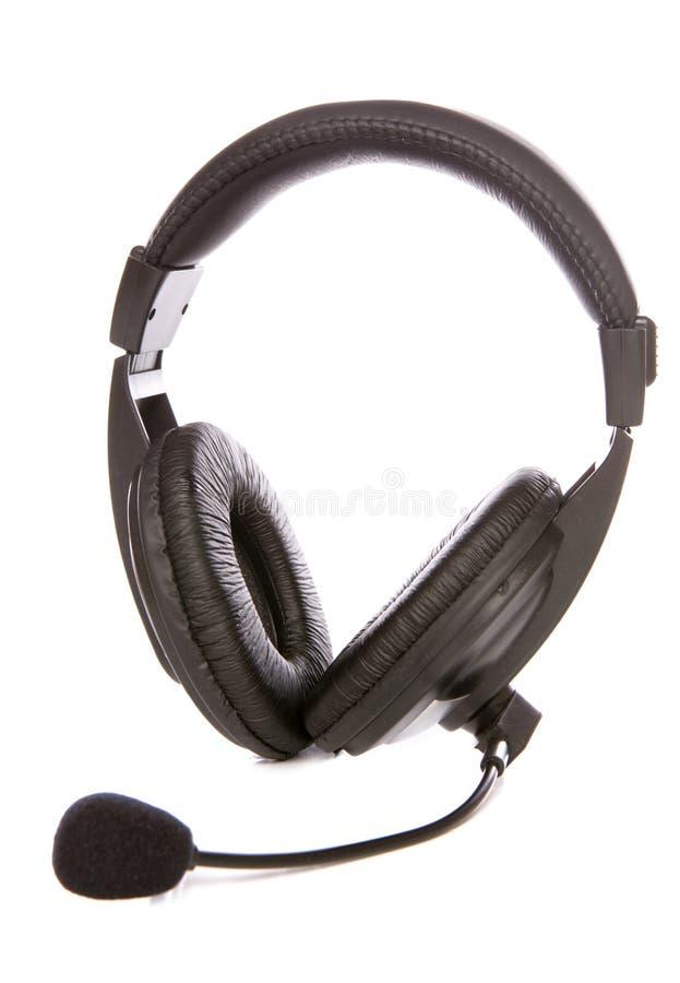 Micrófono y receptor de cabeza foto de archivo