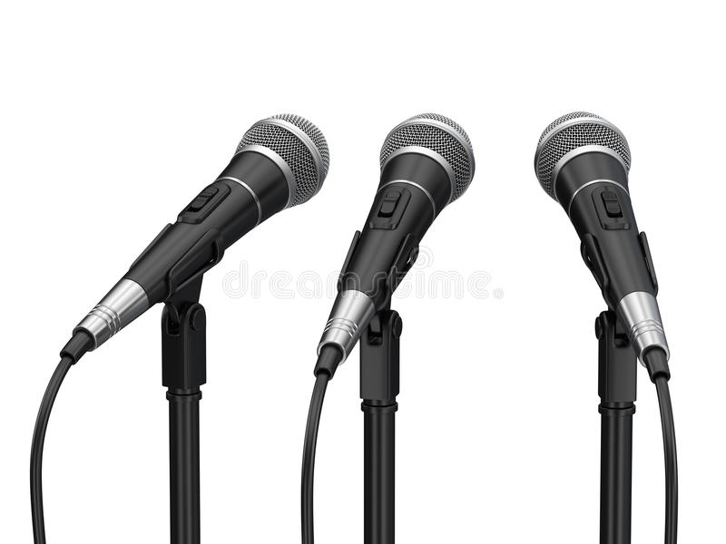 Micrófonos ilustración del vector