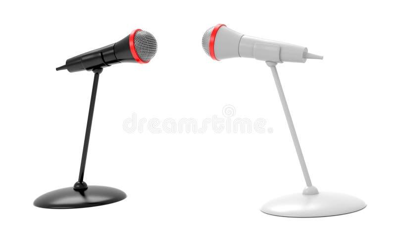 Micrófonos blancos y negros libre illustration