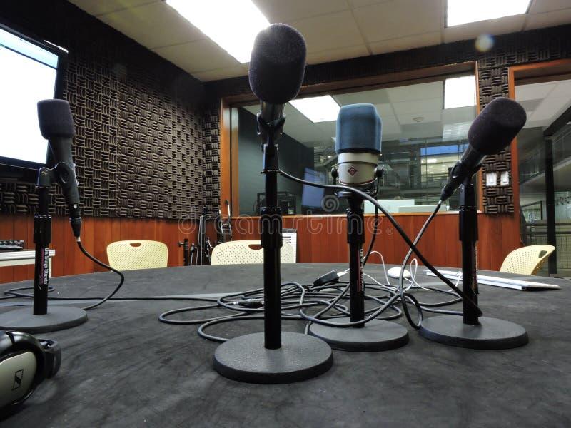 Micrófonos y voz imagenes de archivo