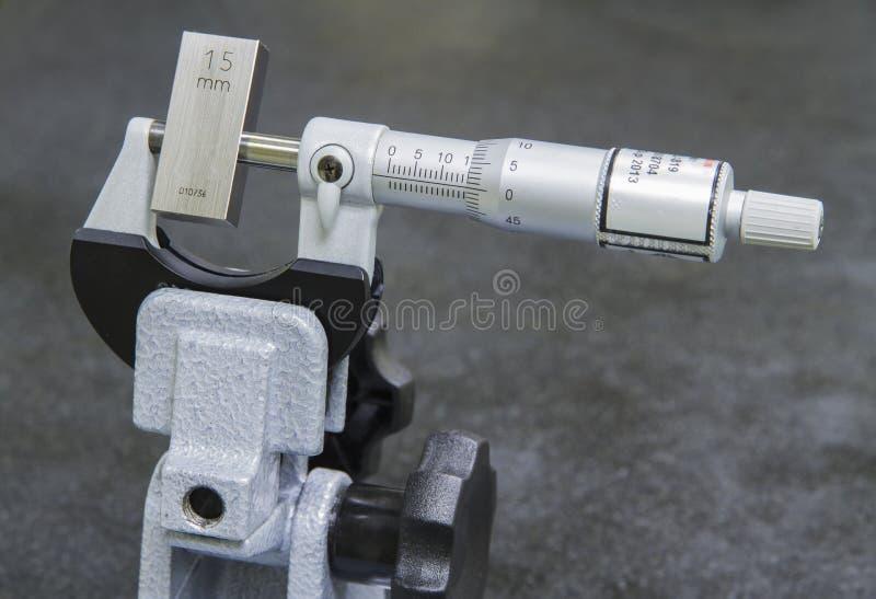Micrómetro de la calibración imagen de archivo libre de regalías