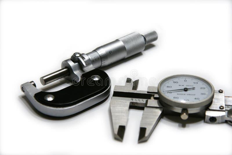 Micrômetro e compasso de calibre fotos de stock royalty free