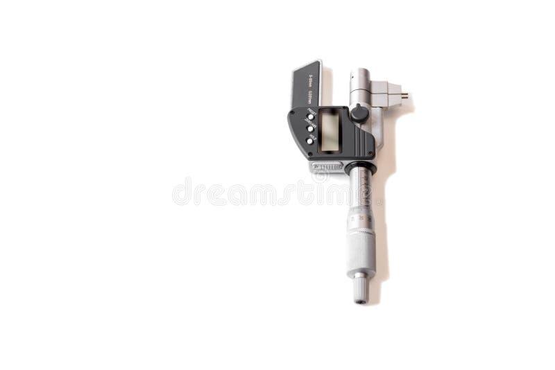 Micrômetro de Digimatic do instrumento de medição isolado imagem de stock royalty free