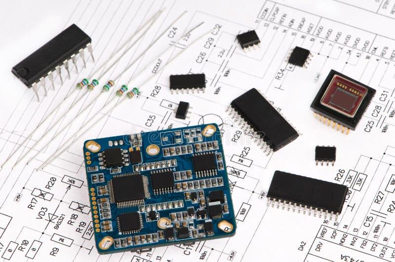 micro элемента электроники стоковые изображения rf