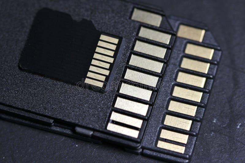 Micro- BR-Kaart met Adapter stock foto