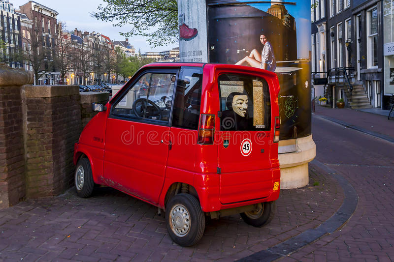 Micro Car For Anonymous Editorial Photo Image Of City 72250371