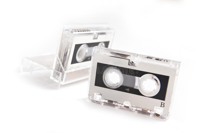 Micro cassette isolated. Micro audio cassette isolated on white background stock images