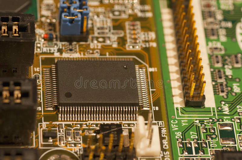 Download Micro chip stock photo. Image of machine, component, close - 23034110