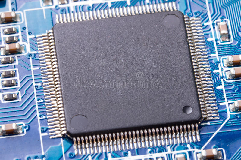 Download Micro chip close up stock photo. Image of background - 23054914