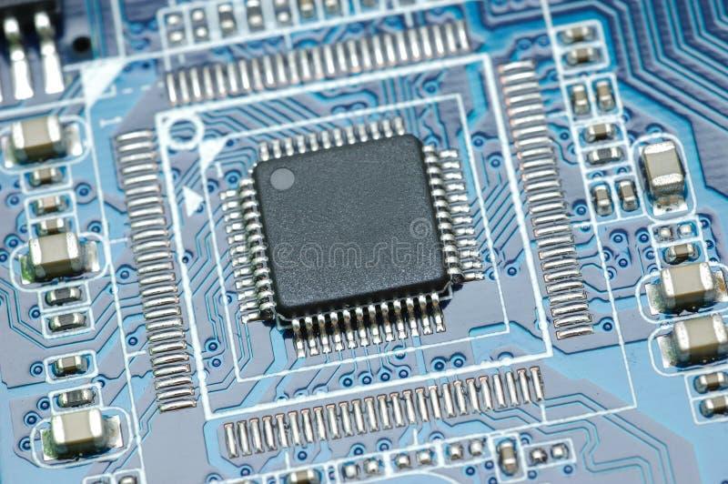 Micro chip closeup royalty free stock photo