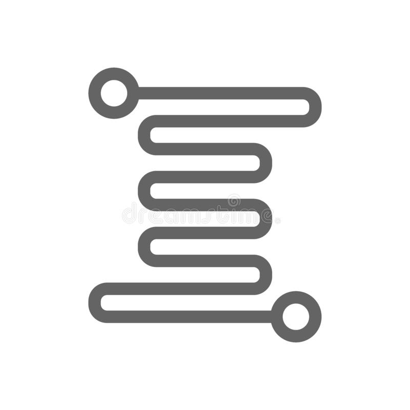Micro circuit line icon. royalty free illustration