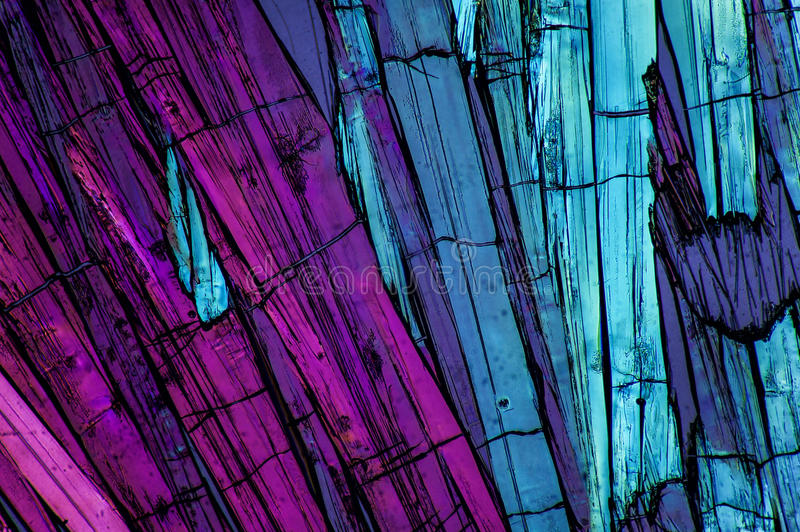 Micro cristais 7 fotografia de stock