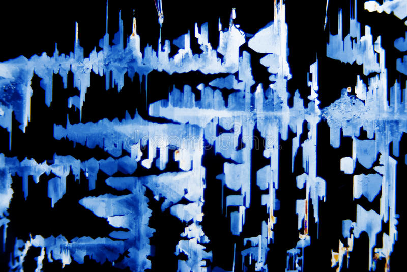 Micro cristalli fotografia stock