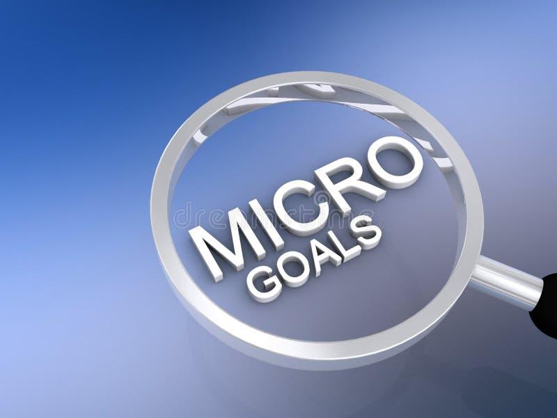 Micro-doelstellingen stock illustratie