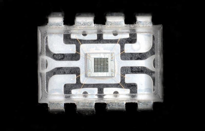 Micro-elektronica en spaanders stock afbeelding