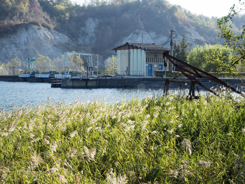 Micro hydroelectric power plant on Doftana river valley royalty free stock image