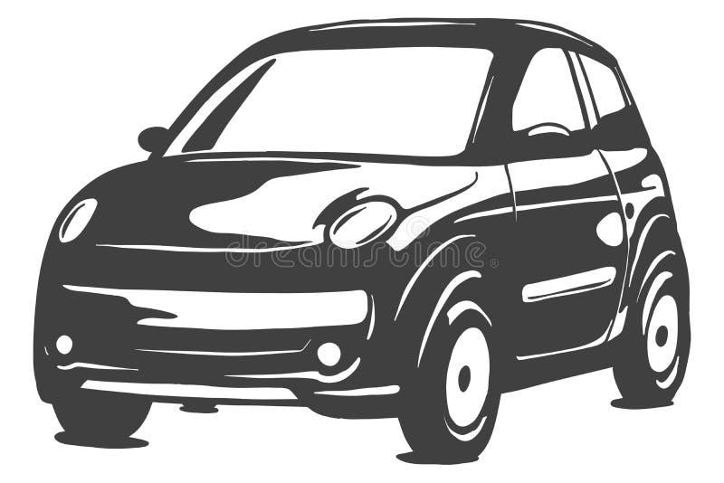 Micro illustrazione del nero di vettore isolata su fondo bianco Illustrazione disegnata a mano illustrazione di stock