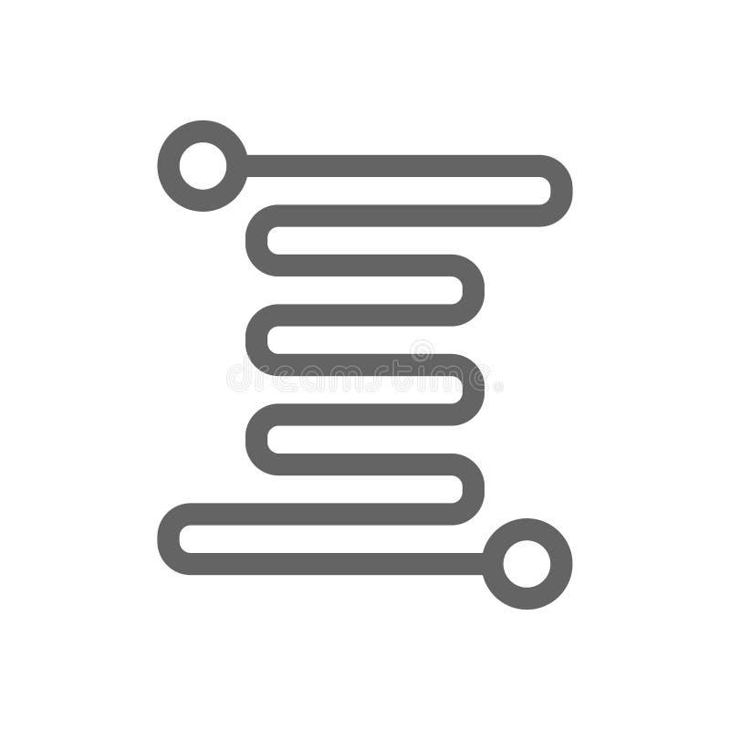Micro linea icona del circuito royalty illustrazione gratis