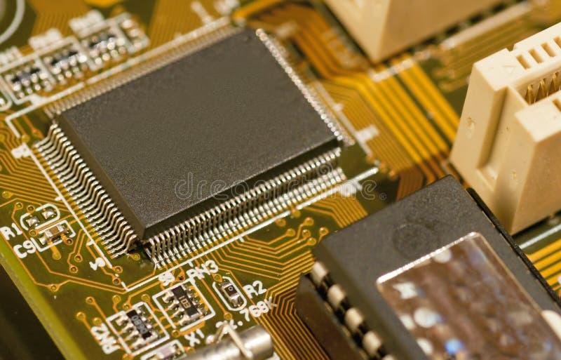 Micro microplaqueta fotografia de stock royalty free