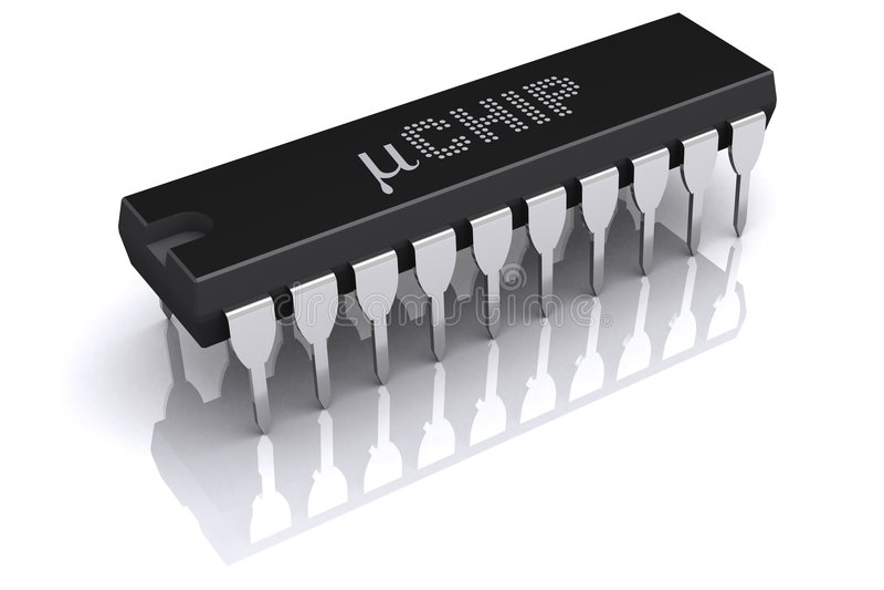 Micro Microplaqueta Fotos de Stock Royalty Free