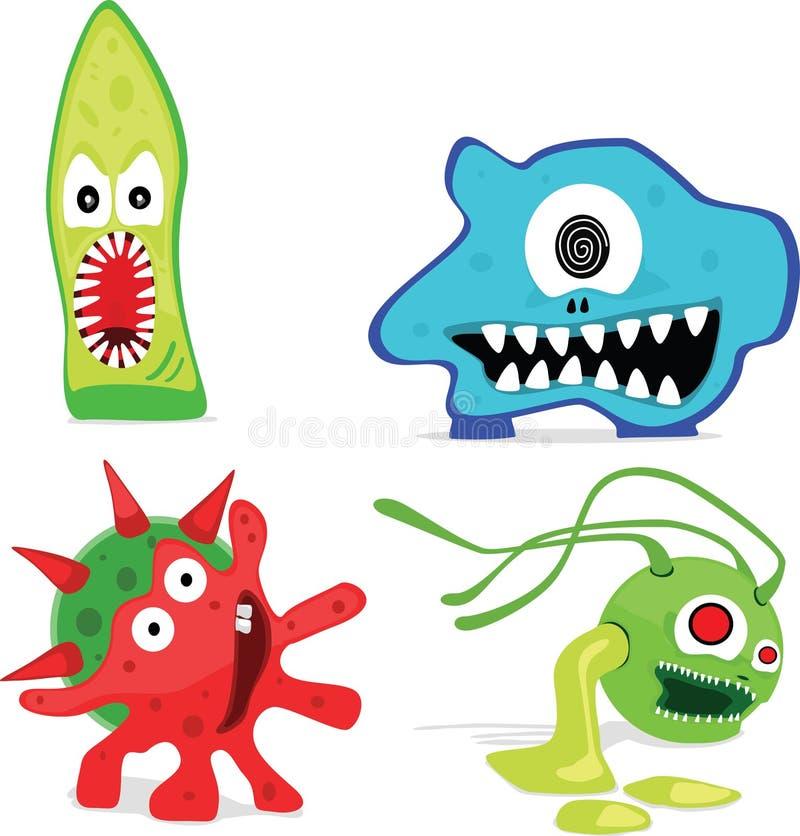Micro-organismos ilustração stock