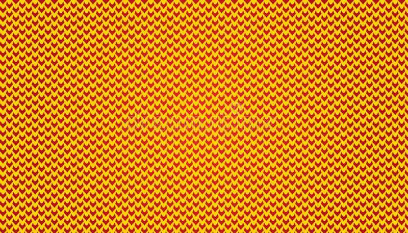 Micro- Patroon V eenvoudige Patroonillustratie Als achtergrond in gele en rode kleur royalty-vrije stock afbeeldingen