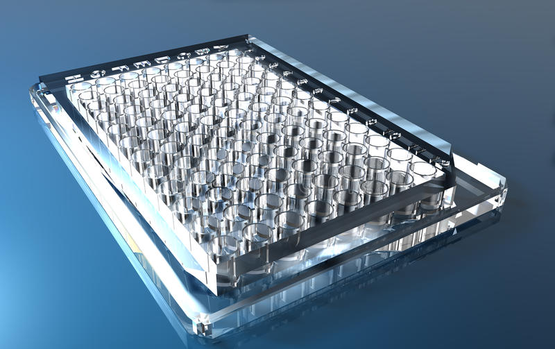 Download Micro-plate (PCR, ELISA, Cell Culture) Stock Illustration - Image: 17965644
