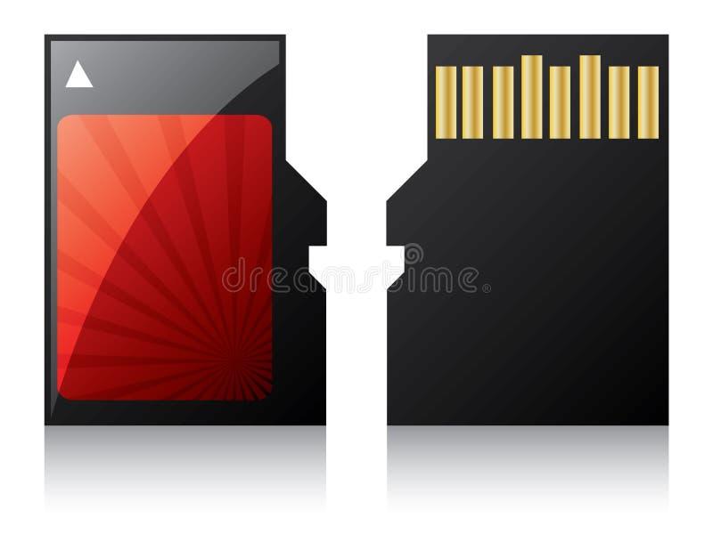 Micro scheda contrassegnata di deviazione standard illustrazione vettoriale