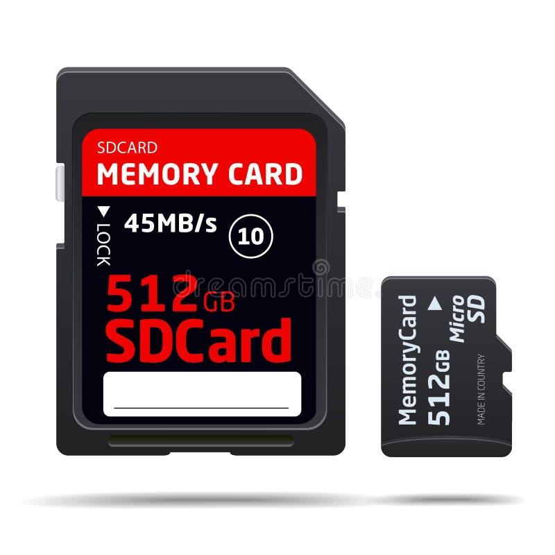 Micro scheda di memoria di deviazione standard royalty illustrazione gratis