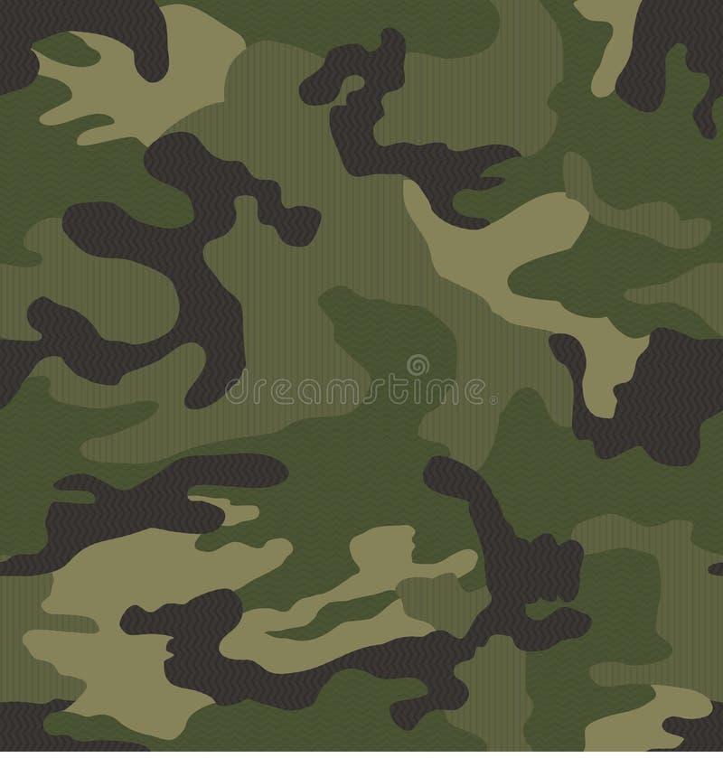 Micro teste padrão da camuflagem do teste padrão (sem emenda) ilustração stock
