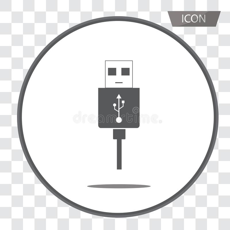 Micro USB cables icon isolated on background. Micro USB cables icon isolated on white background royalty free illustration