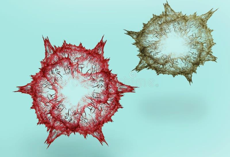 microbe vektor illustrationer