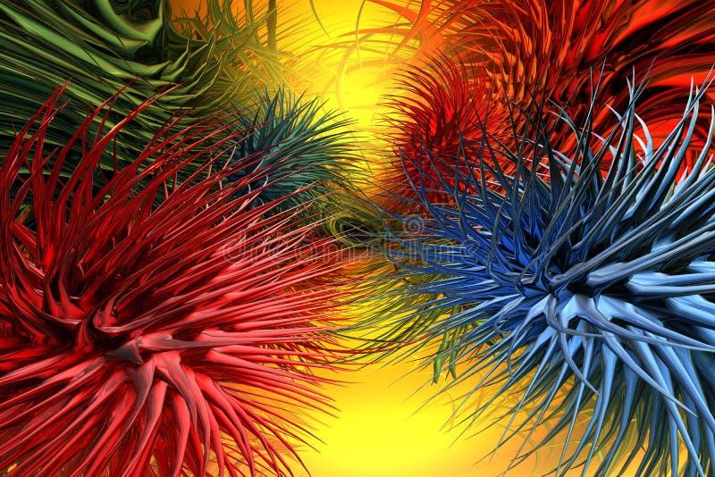 microbe 3d vektor illustrationer
