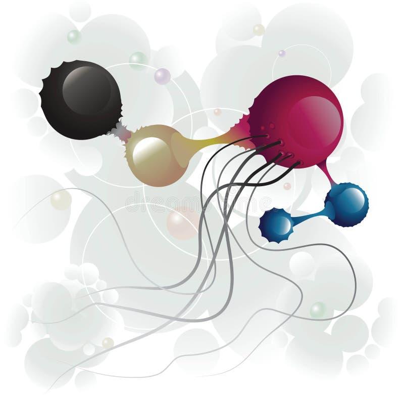 microbe fem royaltyfri illustrationer