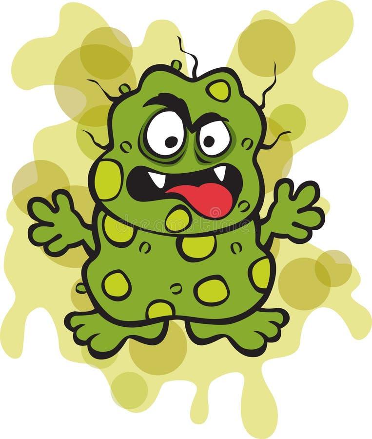 Microbe méchant de germe illustration libre de droits