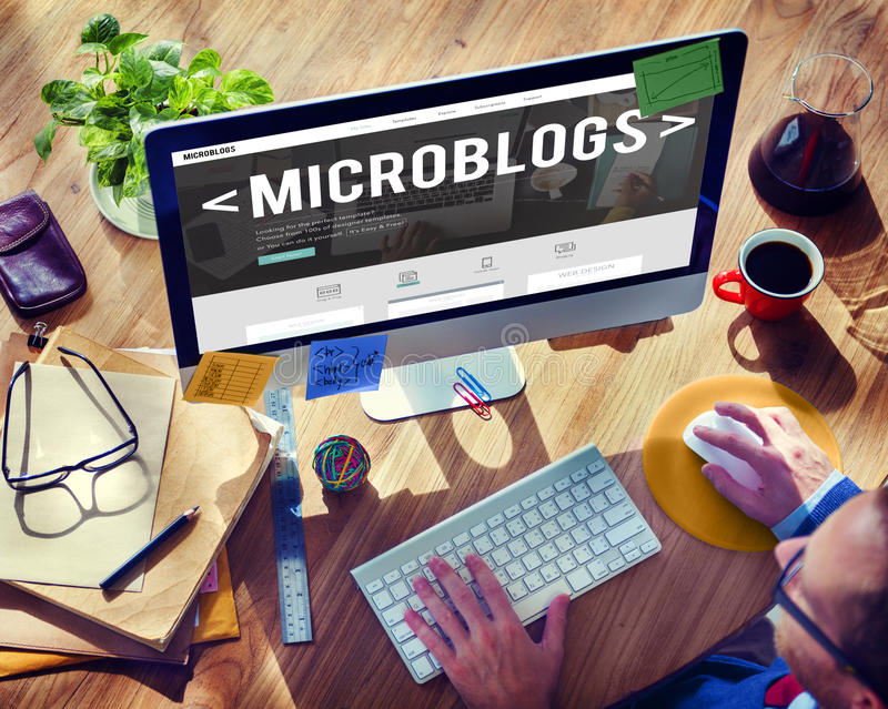 Download Microblogs Blogging Social Media Online Concept Stock Image - Image: 66386155